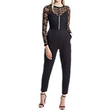 Buy French Connection Hannah Beau Jumpsuit, Black Online at johnlewis.com
