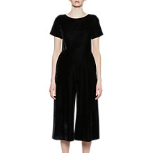 Buy French Connection Arore Velvet Jumpsuit, Black Online at johnlewis.com