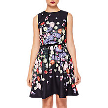 Buy Ted Baker Izobela Kensington Floral Dress, Black/Multi Online at johnlewis.com