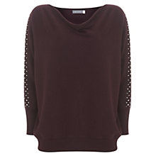 Buy Mint Velvet Stud Sleeve Batwing Jumper Online at johnlewis.com