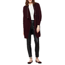 Buy Mint Velvet Zip Neck Cardigan, Bordeaux Online at johnlewis.com