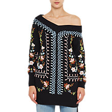 Buy French Connection Bijou Embroidery Jumper, Black/Multi Online at johnlewis.com