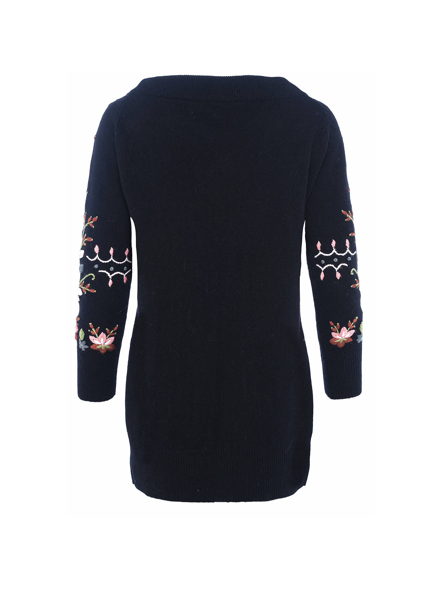 7146950cf8b Buy French Connection Bijou Embroidery Jumper, Black/Multi, XS Online at  johnlewis.