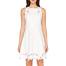 Buy Ted Baker Emmona Embroidered Skater Dress, Ivory Online at johnlewis.com