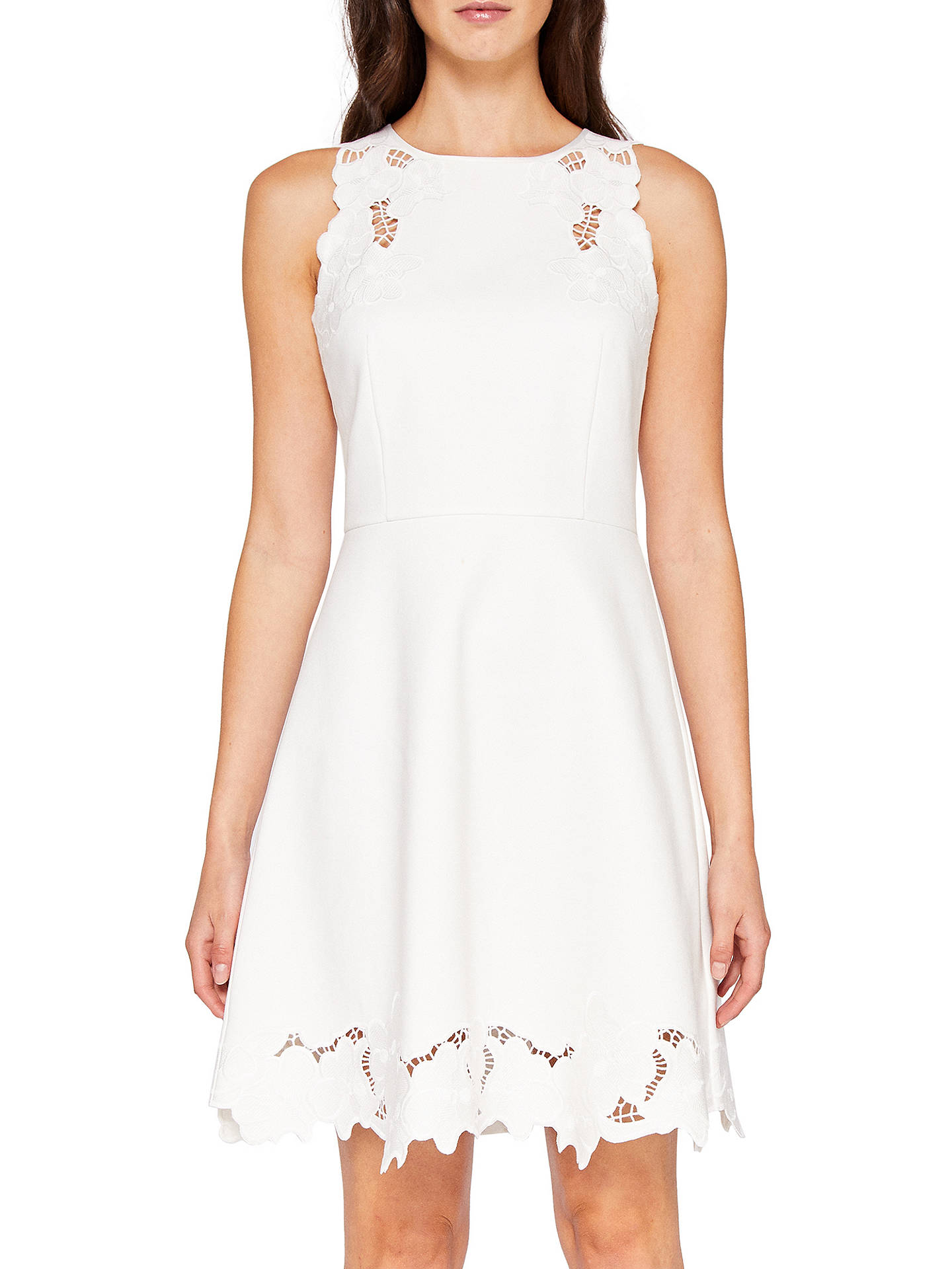 43a48f2f55 Ted Baker Emmona Embroidered Skater Dress at John Lewis   Partners