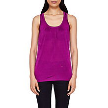 Buy Ted Baker Skylon Gathered Vest Top, Deep Purple Online at johnlewis.com