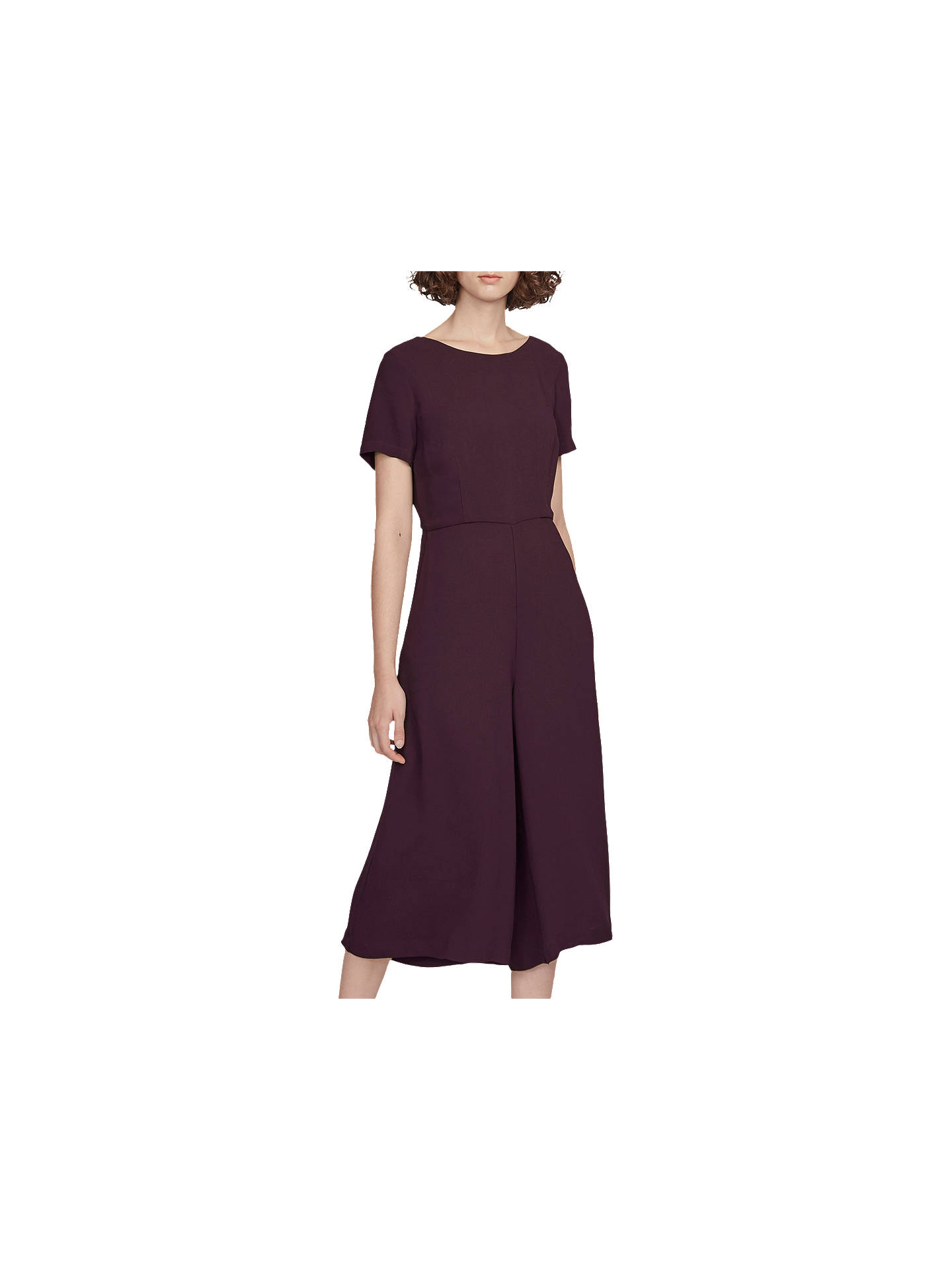 8610d9adaa9 Buy French Connection Esther Crepe Short Sleeve Jumpsuit, Deepest Purple, 6  Online at johnlewis ...