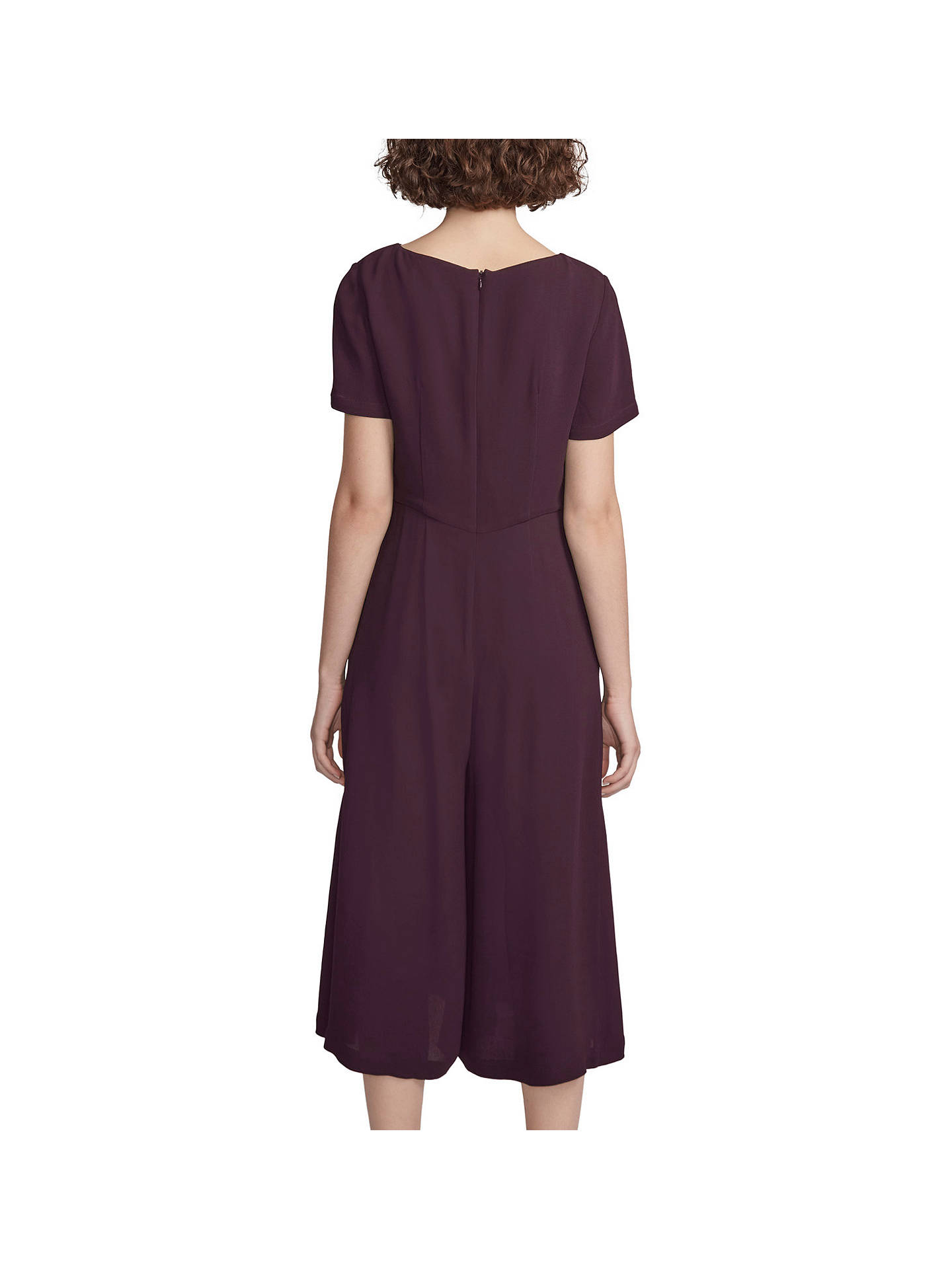 6d84b69f6af ... Buy French Connection Esther Crepe Short Sleeve Jumpsuit, Deepest  Purple, 6 Online at johnlewis ...