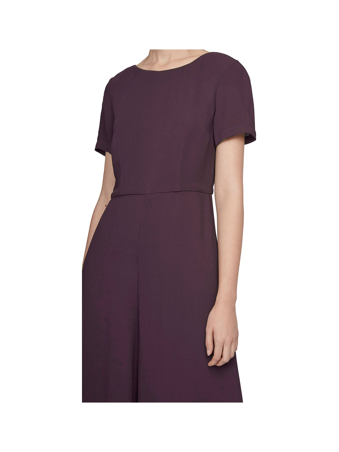 01fc33dc733 ... Buy French Connection Esther Crepe Short Sleeve Jumpsuit, Deepest  Purple, 6 Online at johnlewis