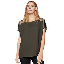 Buy Mint Velvet Lace Insert Cocoon T-Shirt Online at johnlewis.com