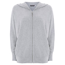 Buy Mint Velvet Grey Knitted Hoodie, Light Grey Online at johnlewis.com