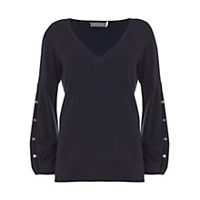 Buy Mint Velvet Balloon Sleeve Knit, Dark Blue Online at johnlewis.com