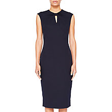 Buy Kezzia Bow Neck Bodycon Dress, Navy Online at johnlewis.com