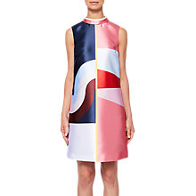 Buy Ted Baker Niema Layered Neckline Tunic, Pink/Multi Online at johnlewis.com