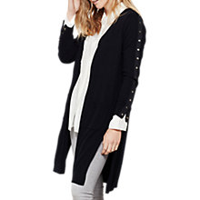 Buy Mint Velvet Longline Stud Cardigan, Dark Blue Online at johnlewis.com