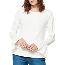 Buy Mint Velvet Trumpet Sleeve T-Shirt, Ivory Online at johnlewis.com