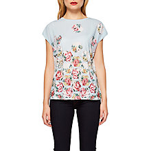 Buy Ted Baker Soma Patchwork Woven T-Shirt, Pale Blue Online at johnlewis.com