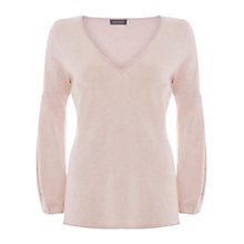 Buy Mint Velvet Balloon Sleeve Knit Jumper, Light Pink Online at johnlewis.com