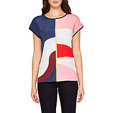 Buy Ted Baker Hasel Mississippi T-Shirt, Navy/Multi Online at johnlewis.com