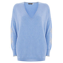 Buy Mint Velvet Star Sleeve Intarsia Knit Jumper Online at johnlewis.com