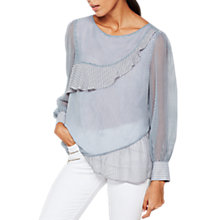 Buy Mint Velvet Ruffle Stripe Blouse, Multi Online at johnlewis.com