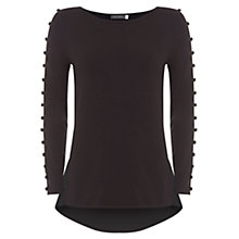 Buy Mint Velvet Button Knit Jumper, Black Online at johnlewis.com