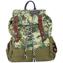 Buy Fat Face Childrens' Badge Backpack, Khaki Online at johnlewis.com