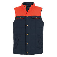 Buy Fat Face Boys' Alfie Gilet, Multi Online at johnlewis.com