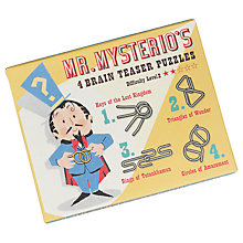 Buy Rex London Mr Mysterio's Brain Teaser Puzzles Online at johnlewis.com