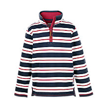Buy Fat Face Boys' Jamie Stripe Half-Zip Sweater, Navy Online at johnlewis.com