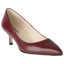 Buy L.K. Bennett Audrey Pointed Toe Court Shoes, Oxblood Leather Online at johnlewis.com