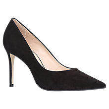 Buy Carvela Alison Pointed Toe Stiletto Court Shoes, Black Suede Online at johnlewis.com
