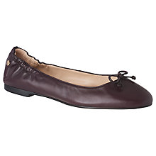 Buy L.K. Bennett Thea Bow Detail Ballet Pumps, Oxblood Leather Online at johnlewis.com