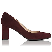 Buy L.K. Bennett Sersha Block Heeled Court Shoes, Oxblood Red Online at johnlewis.com