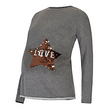 Buy Séraphine Elijah Long Sleeve Maternity Sweater, Charcoal Online at johnlewis.com