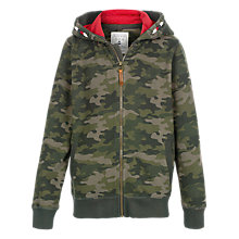 Buy Fat Face Boy's Camouflage Hoodie, Khaki Online at johnlewis.com