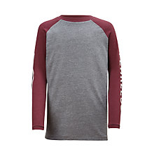 Buy John Lewis Boys' Fearless Raglan T-Shirt, Grey Online at johnlewis.com