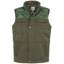Buy Fat Face Boys' Camouflage Gilet, Khaki Online at johnlewis.com