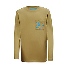 Buy John Lewis Boys' No Matter What T-Shirt, Green Online at johnlewis.com