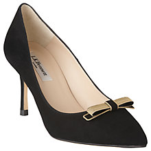 Buy L.K. Bennett Marion Stiletto Heeled Court Shoes, Black Online at johnlewis.com