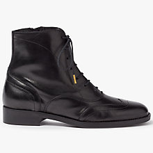 Buy Somerset by Alice Temperley Priddy Lace Up Ankle Boots, Black Online at johnlewis.com