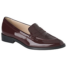 Buy L.K. Bennett Iona Pointed Toe Loafers, Oxblood Red Online at johnlewis.com