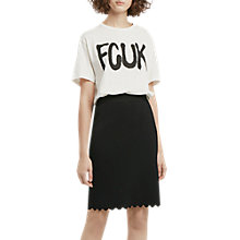 Buy French Connection Lela Crepe Pencil Skirt, Black Online at johnlewis.com