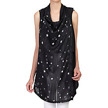Buy Jolie Moi Pattern Gilet, Black Online at johnlewis.com