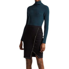 Buy French Connection Lula Rhinestone Wrap Skirt, Black Online at johnlewis.com
