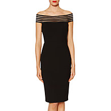 Buy Gina Bacconi Off Shoulder Dress, Black Online at johnlewis.com