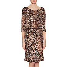 Buy Gina Bacconi Ines Leopard Print Dress, Brown/Black Online at johnlewis.com