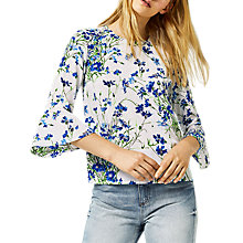Buy Warehouse Full Bloom Top, Blue Online at johnlewis.com