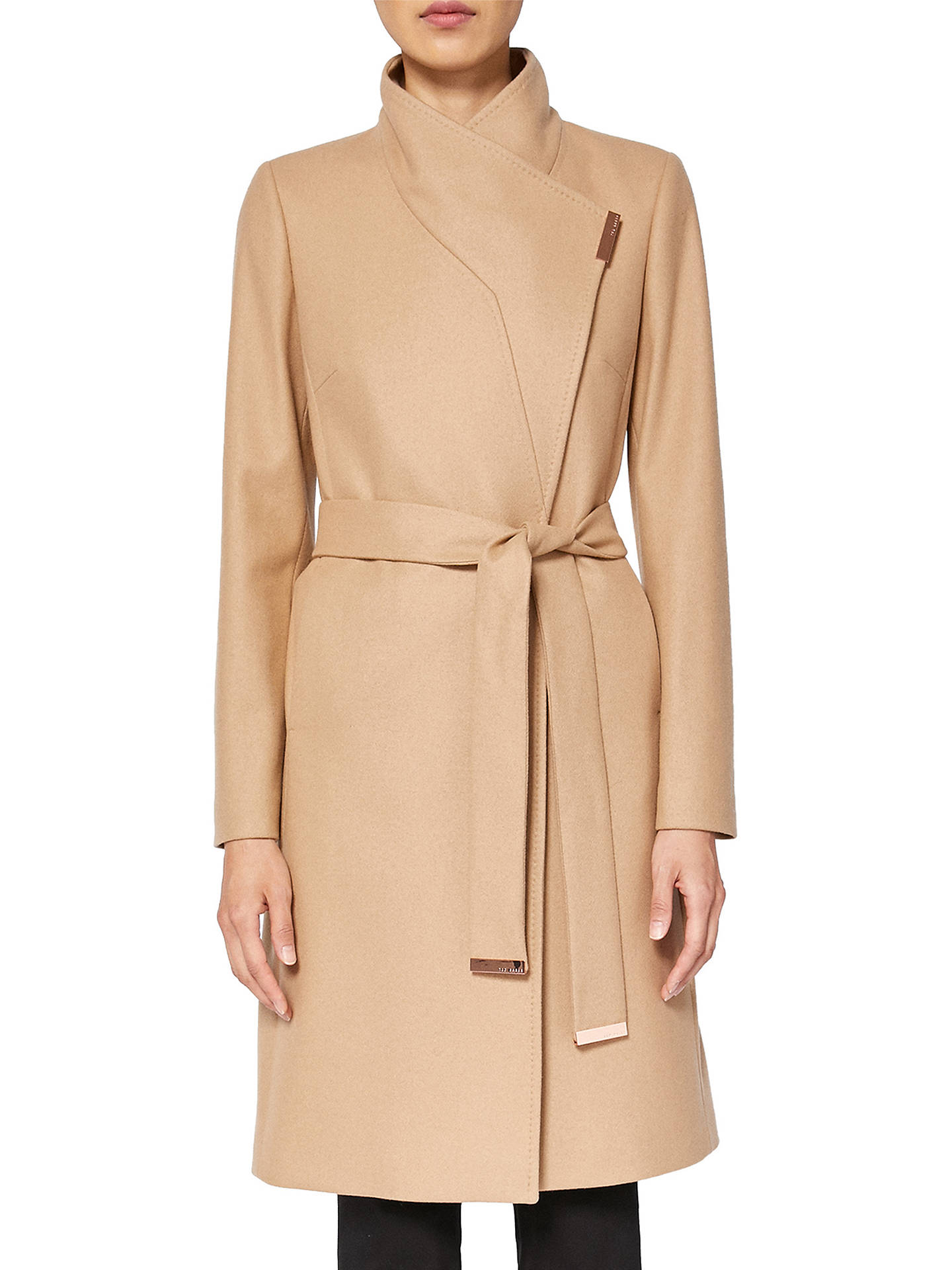 55192d2f8 Ted Baker Kikiie Wrap Front Coat at John Lewis   Partners