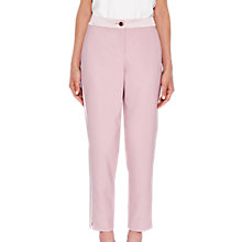 Buy Ted Baker Fionna Contrast Trousers, Dusky Pink Online at johnlewis.com